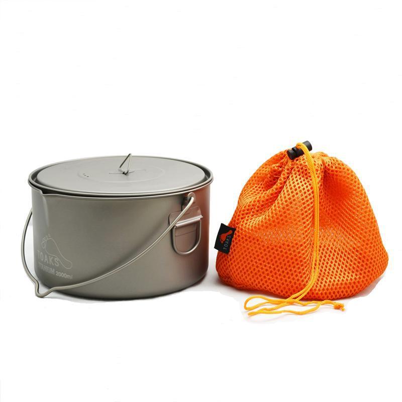 TOAKS Titanium Pot with Bail Handle outdoor ultralight titanium pot 2000ml 258g Bail Handle pot nz titanium pot set