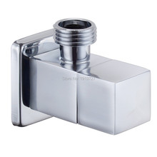 "Modern Solid Brass Diverter 1/2"" x 1/2"" Male Angle Stop Ceramic Mixing Quarter Turn Angle Valve Bathroom Faucet Accessories(China)"
