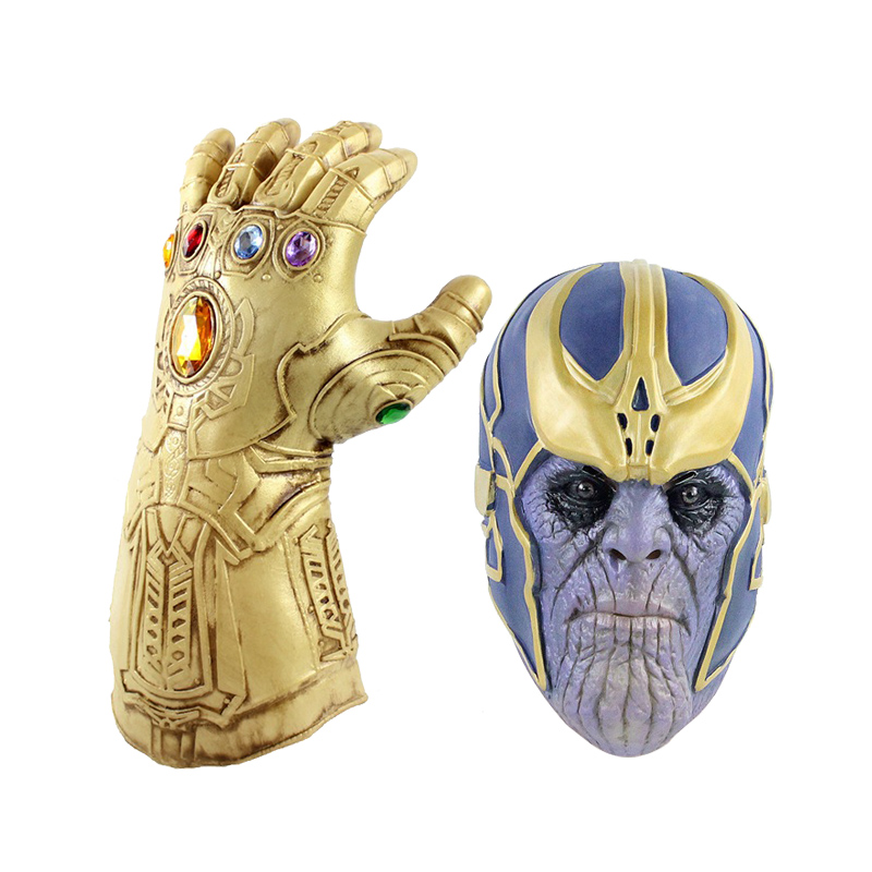 Marvel Avengers 4 Endgame Thanos Gauntlet Gloves Mask Superhero Thanos Action Figure PVC New Collection Figures Toys Collection