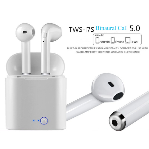 FERSHA I7s TWS Bluetooth wireless headset stereophone With charger Full Bluetooth for tablets and smartphone headsets Lahore