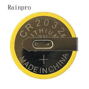 Image 1 - Rainpro 5 قطعة/الوحدة CR2032 2032 مع لحام القدم 210mAh 3 فولت بطارية ليثيوم أيون زر خلية