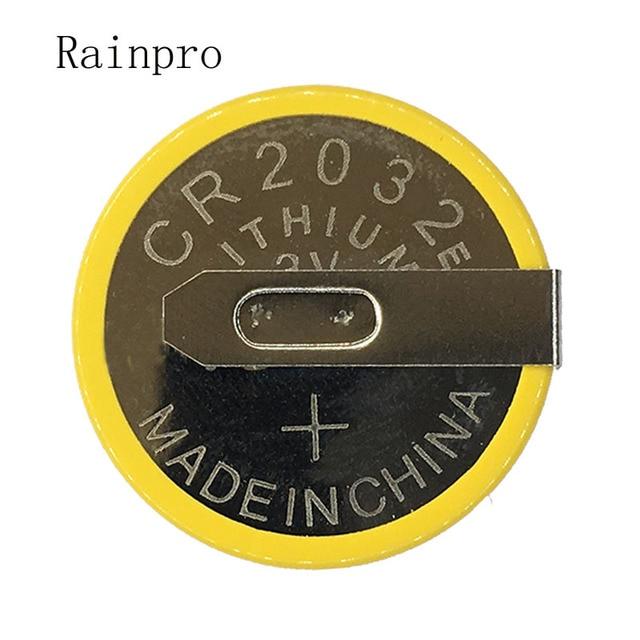 Rainpro 5 قطعة/الوحدة CR2032 2032 مع لحام القدم 210mAh 3 فولت بطارية ليثيوم أيون زر خلية