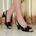 2016 sandalias de las mujeres, zapatos de cuero genuinos, las mujeres peep toe sandalias de tacón alto para las mujeres zapatos de la oficina, grande zapatos de vestir de tamaño 818-13
