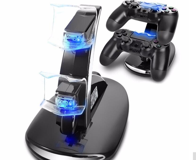 Game accessories Dual Controller Holder Charger 2 USB Fast Charging Cradle Dock Station Stand for PS4 & Slim & Pro Controller