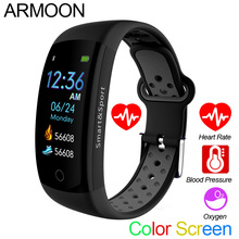 Smart Bracelet Q6S Heart Rate Men Women Band Sleep Monitor Blood Pressure Fitness Tracker Color Screen Waterproof Sports Watch