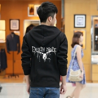 New Death Note Black Hoodie Jacket Autumn Winter Warm Fashion Hoodies Coat Sweatshirts Cosplay Costume