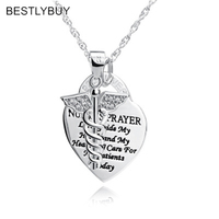 BESTLYBUY 100% Real 925 Sterling Silver Angel Heart Card Pendant Necklace Gifts For Lover With Chain