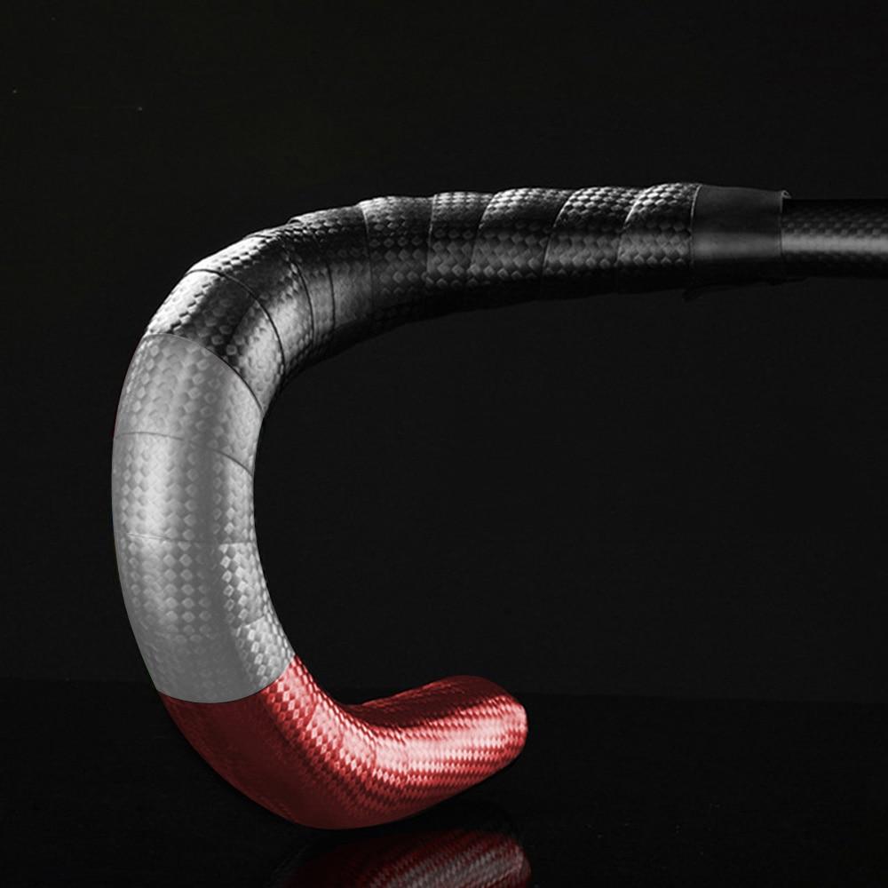 EVA Road Bike Handlebar Tape Cycling , Waterproof Bicycle Bar Tape Cycling Handle Wraps , 2 Rolls Per Set (White Red Black)