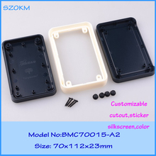 2 pcs/lot plastic enclosure plastic box for electronic project box for electronic project 70X112X23 MM