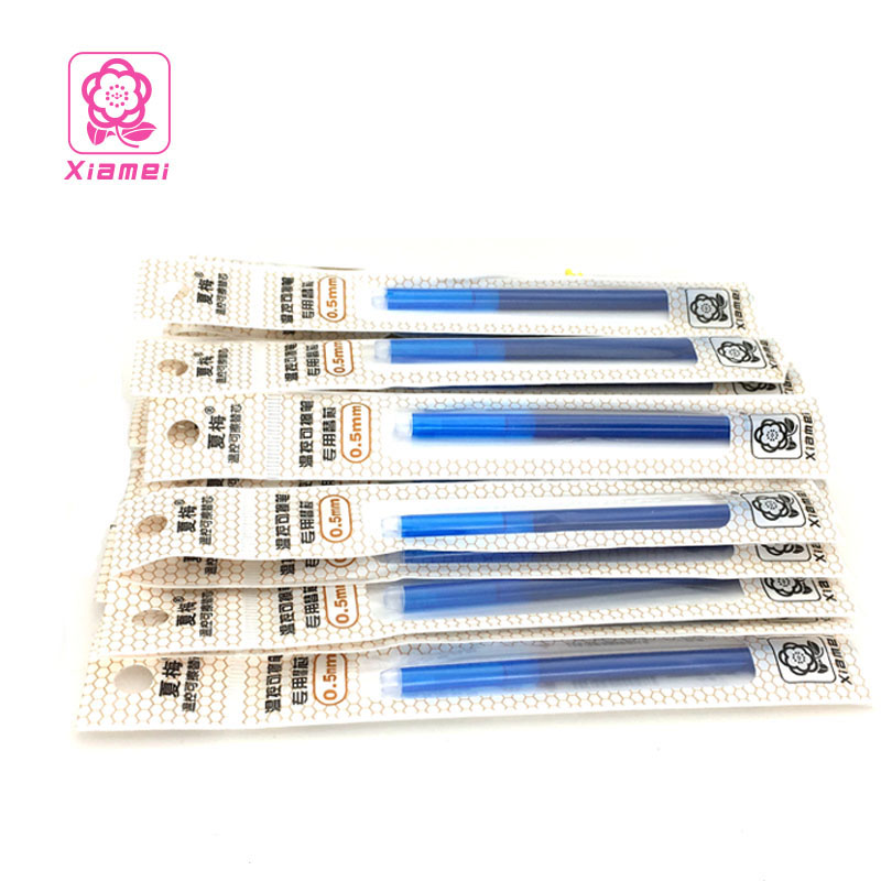 Xiamei 10PCS/Lot 0.5mm Bullet Head Magic Erasable Gel Pen Refill Black Blue Red Ink Blue Refills Student and Office Writing Gift wholesale special 10pcs erasable pen blue black dark blue red magic pen office supplies student exam spare