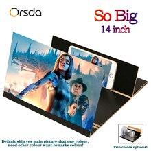 """Orsda 3d Универсальный Экран усилитель стереоскопический 14-дюймовый Модный чехол для мобильного телефона с принтом """"Экран откидной крышкой для Xiaomi samsung huawei Apple"""
