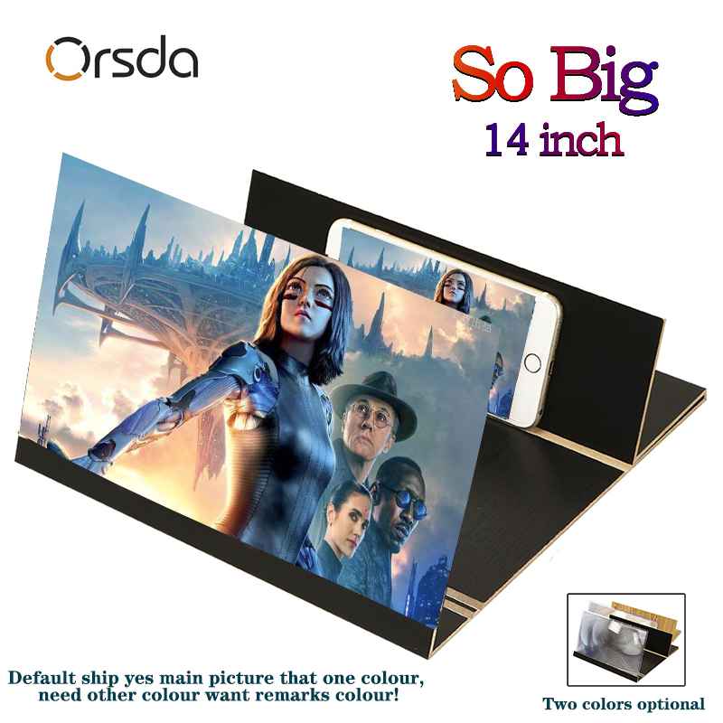Orsda Gifts 3d Phone Screen Amplifier Stereoscopic 14-Inch Fashion Mobile Phone Screen Folding For Xiaomi Samsung Huawei Apple
