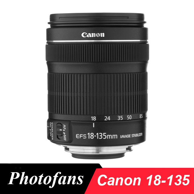 Canon 18-135 STM Objectif Canon EF-S 18-135mm f/3.5-5.6 IS STM Lentilles pour 700D 750D 800D 7D 70D 60D Rebel T3i T4i T5i