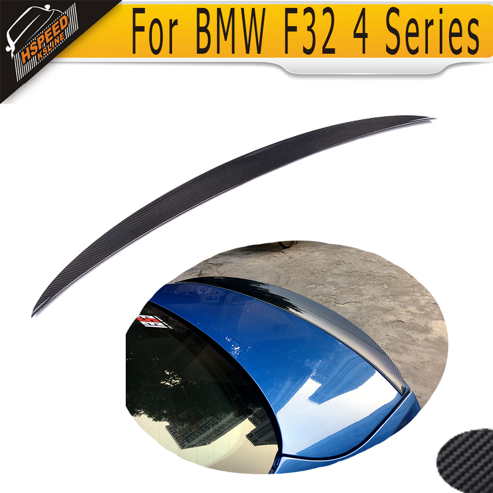 все цены на Carbon Fiber Rear Wing Spoiler for BMW F32 F33 4 Series 428i 435i Coupe 14-16 Tail Trunk Lid Lip Wing Spoiler ML Style онлайн