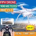 2 шт. Мотор Подарок, SYMA X5SW FPV Quadcopter Drone с Камерой Оригинал X5SW-1 HD 2.0MP WI-FI RC drone 2.4 Г 6-осевой Quad