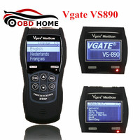 Vgate VS890 OBD2 Diagnostic Scanner Vgate VS 890 Code Reader Vgate Maxiscan VS890 Work on Multi Cars Support Multi Languages