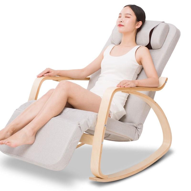 Leisure Massage Rocking Chair Home Automatic Kneading Massage Cervical Vertebra Waist Back Electric Massage Sofa Chair