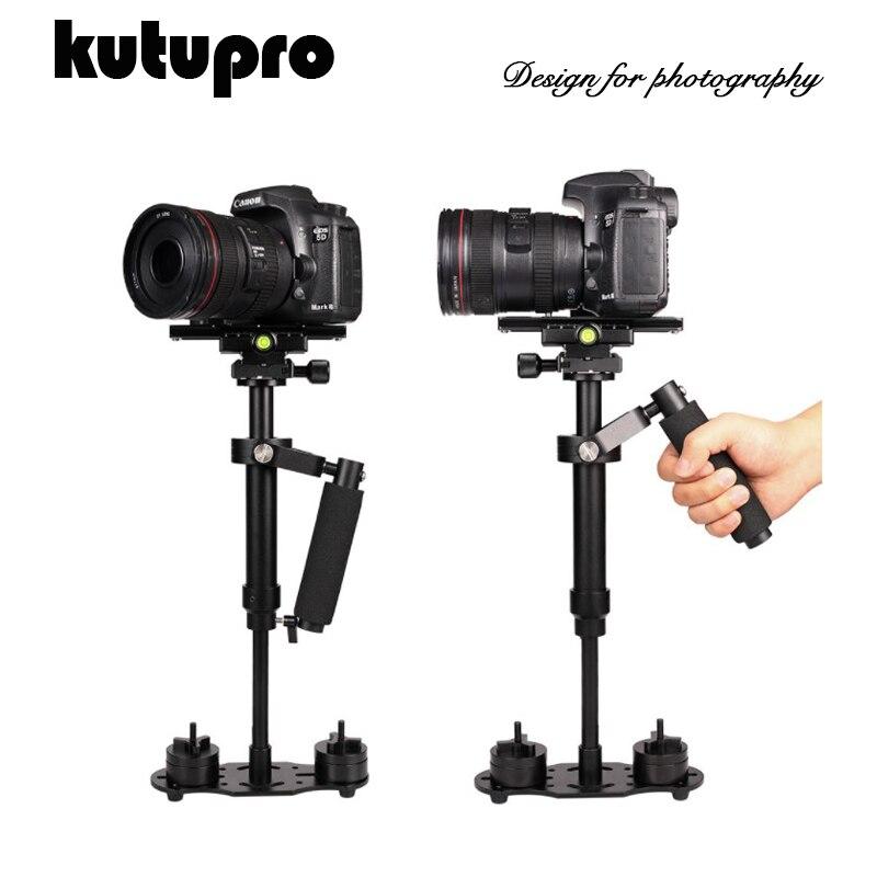 Kutupro nouveau stabilisateur Portable à main stabilisateur vidéo stabilisateur avec plaque de dégagement rapide pour Canon Nikon Sony caméra GoPro