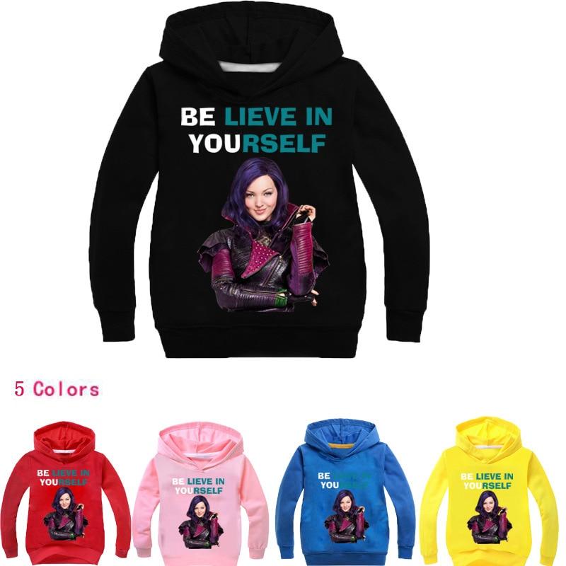 2-14Years Girls Hoodies La Reine Des Neiges Goofy Sweatshirts Teenage Barcelona Kids Bobo Choses 2018 Spring Boy Jacket Infatil
