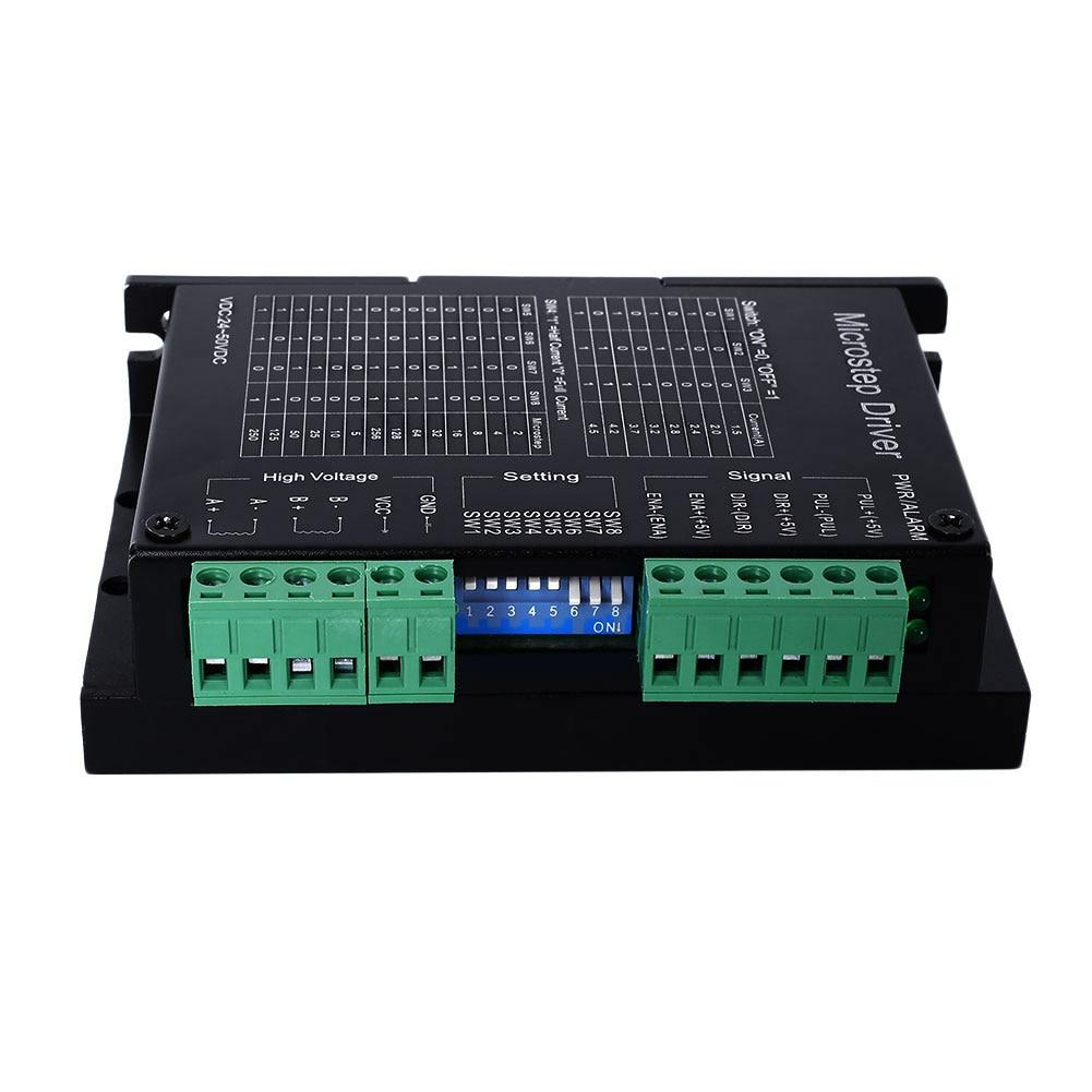 все цены на DM542A 2/4 phase Nema23 hybrid stepping Stepper motor driver 4.2A microcontroller VDC 18V~50V controller