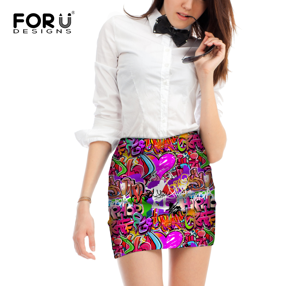 FORUDESIGNS New Arrival Elastic Women Sexy Mini Skirt Saia Midi High Quality Ladies Faldas Woman Casual Pencil Skirts For Girls