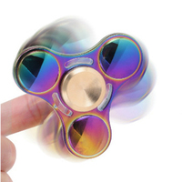 Babelemi Rainbow Color Titanium Alloy Fidget Spinner Hand Spinners Anti Stress Funny Gifts Toys For Autism