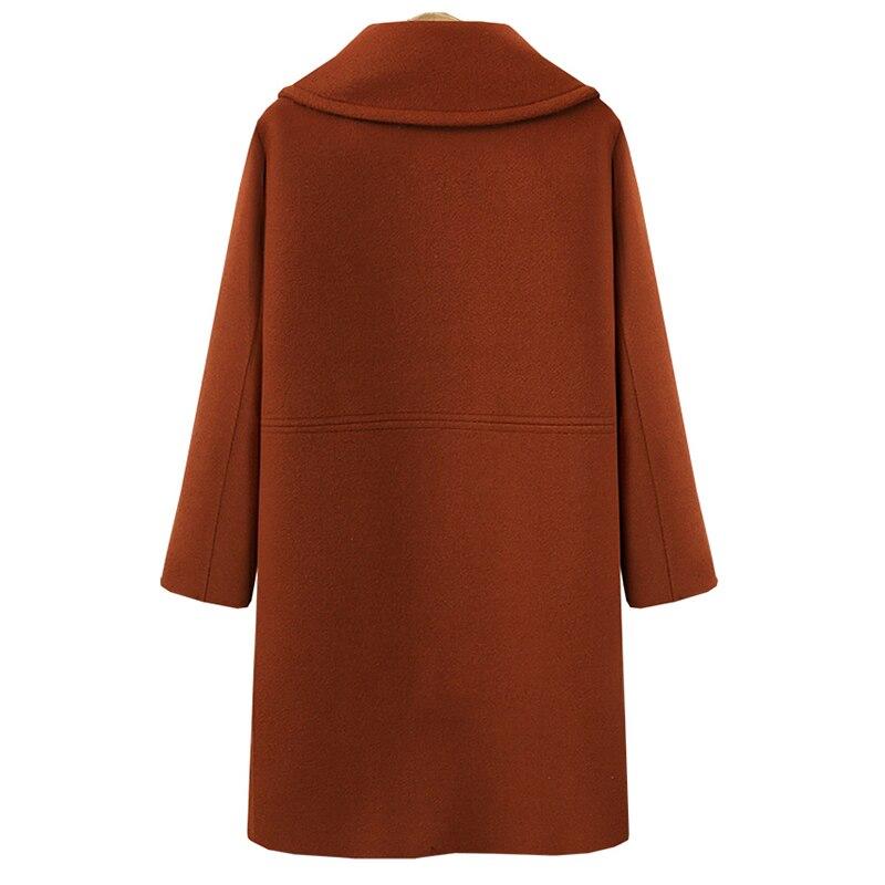 Long Rouge Ol vent Tempérament kaki Laine Femelle Manteau marron Noir Taille corail Grande Femmes De Coupe Wwxq0v8HYZ