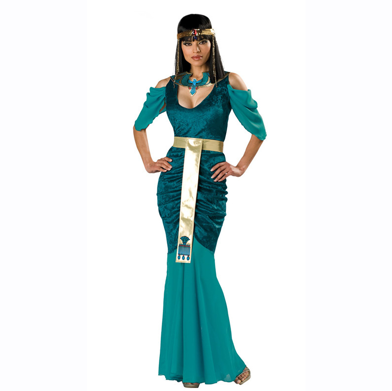 UTMEON Sexy Women's Arab Queen Of Egypt Cleopatra Costume Fancy Dress Clothes Halloween Egyptian Costume Ethnic Clothing