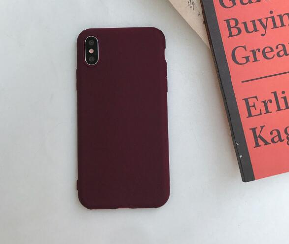 Case For iphone X Xs Max Case Black Green Wine Red Silicone Phone Case Cover Coque For iphone 6 7 8 7Plus 6 S 6Plus 8Plus Xr