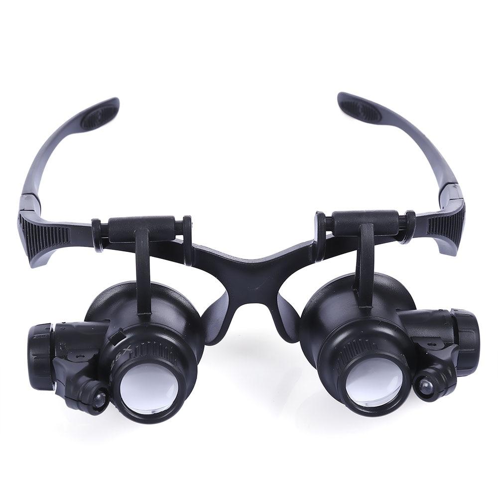 Wearing Magnifying Glass With Led lights 10x 15x 20x 25x Magnification Loupes Jeweler Motherboard Font Magnifier окуляр для зрительных труб nikon prostaff 5 20x 25x