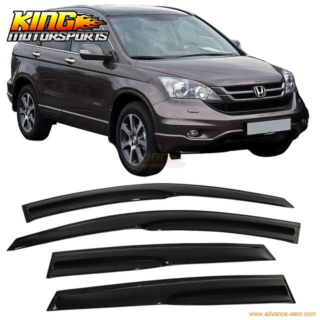 For 2007-2011 Honda CRV CR-V Full Set Mugen Style Smoked JDM Stick On Window Visors USA Domestic Free Shipping