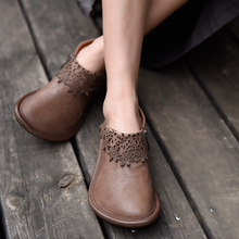 Artmu Vintage Women Flats Shoes Fashion Casual Sneakers Handmade Genuine Leather Woman Single Shoes Soft Soles Comfort Shoes