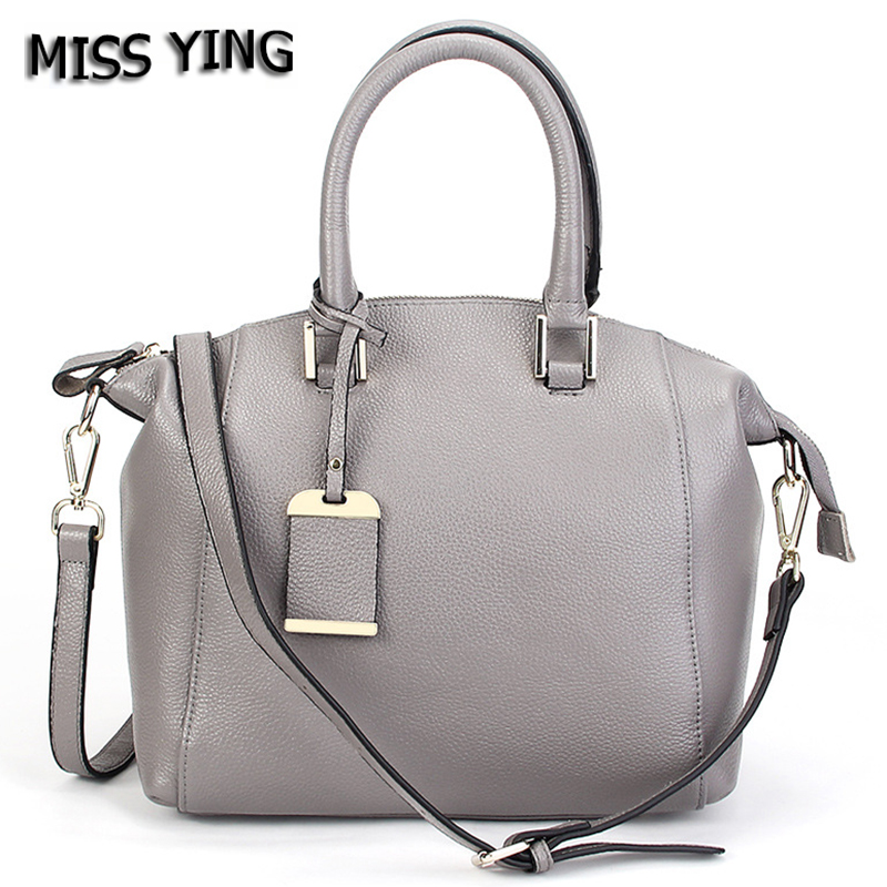 MISS YING Brand Summer New Fashion Genuine Leather Handbag Women High Quality Cow Leather Crossbody Bag Ladies Shopping Tote Bag delin sunshine beauty women 2017 new summer fashion handbag crossbody bag