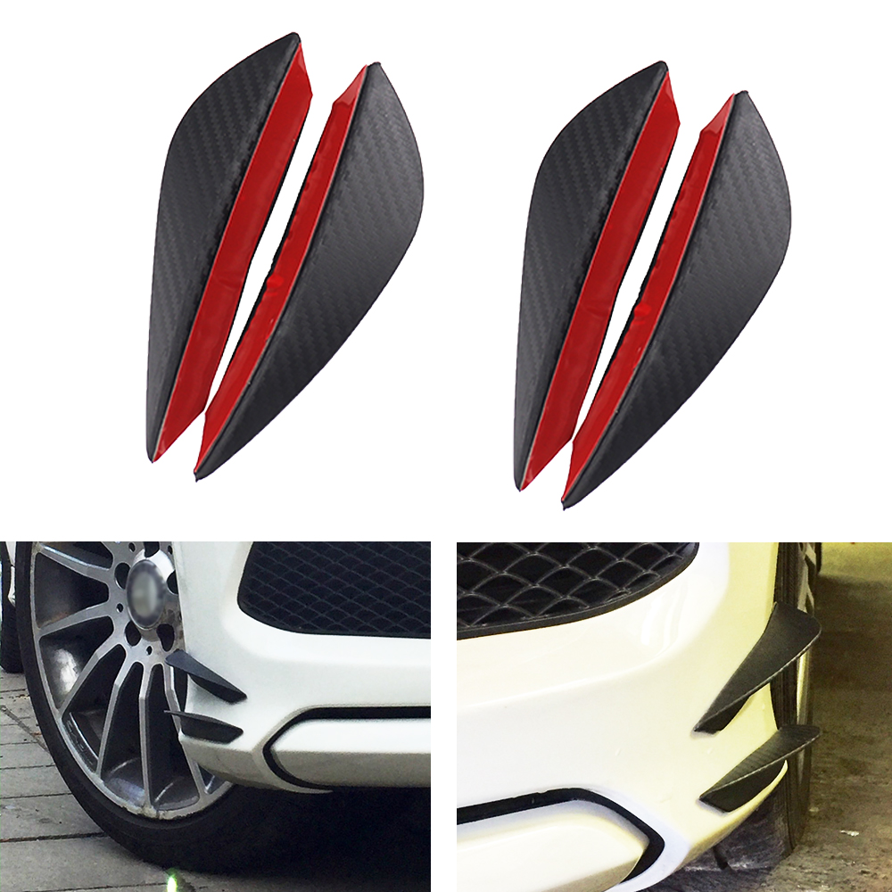 Water Transfer Printing Ruien 23 x6 Universal Rear Bumper Lip Diffuser 5 Shark Fin Style Gloss Carbon ABS