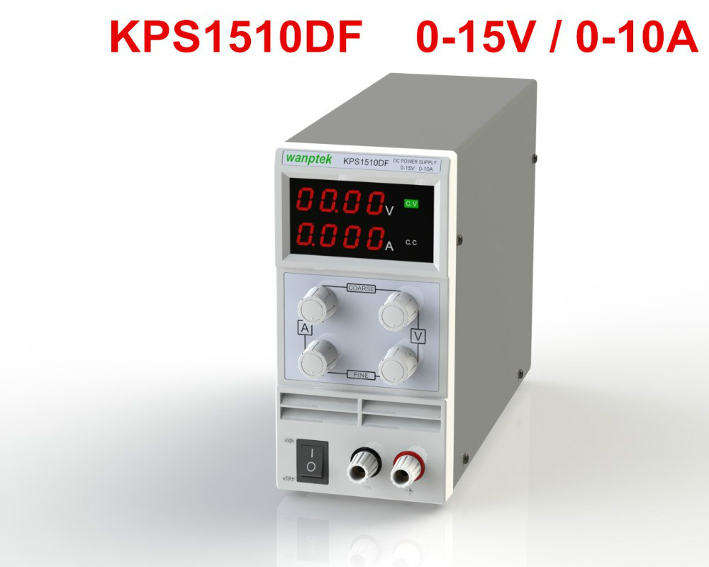 ФОТО  KPS1510DF 15V10A 110V 230V 0.1V 0.001A EU LED Digital Adjustable Switch DC Power Supply mA display