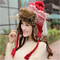 Women's Winter Hat Leather Rabbit Fur Ear Protector Cap Female Lei Feng Cap Warm Hat Outdoor Fashion Couple Hat A2487