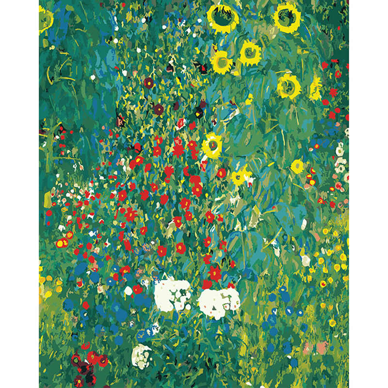 40*50 cm Klimt 'Sunflower park' Hand Painted Pictures Painting By Numbers Home Decor DIY Digital Oil Painting On Canvas DY432