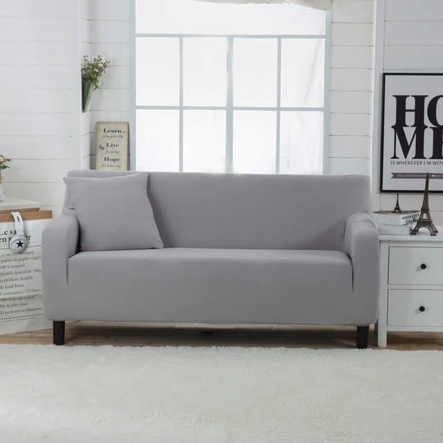 Solid Knitted Elastic Sofa Cover