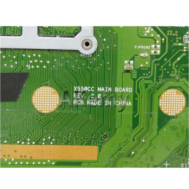 AK X550CC Motherboard Laptop UNTUK ASUS A550C X550CL R510C Uji Asli Mainboard 4G Ram I3 CPU GT710M
