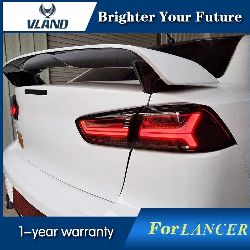 Vland светодиодный Audi Стиль задние фонари лампы дыма для Mitsubishi Lancer света хвоста Ex 2008 2017 Taillamp световой сигнал