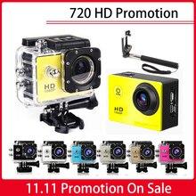 Outdoor HD 720P Sports DV Mini Camera HD 30M Go Waterproof Pro Style Helmet Bike Car CAM Mini Camcorder Monopod 32GB Sd Card