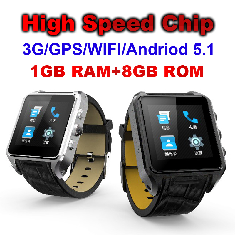 High Speed Chip 1GB+8GB Smart watch Support 3G Call GPS WIFI Positioning navigation With Browse web Download the APP VS X01s iphone 3g 8 gb по очень низкой цене
