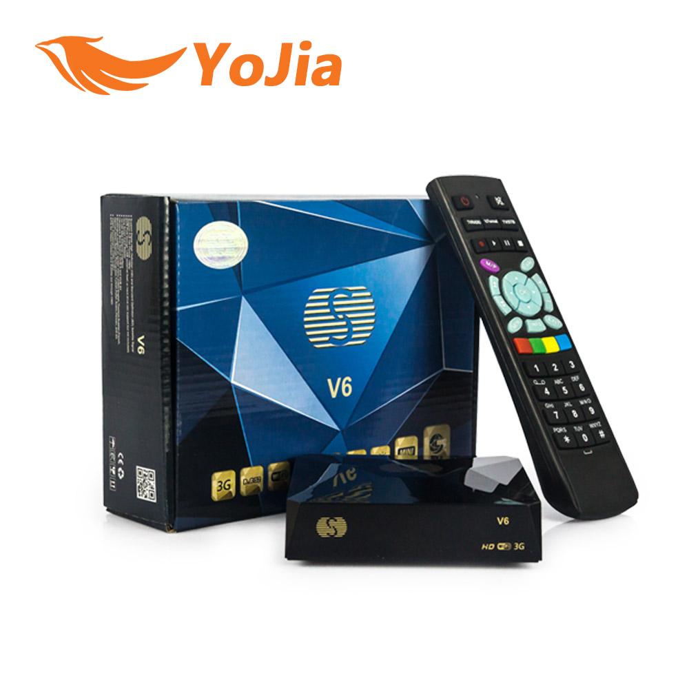 Prix pour 1 pc-v6 de mini numérique récepteur satellite s v6-v6 de avec av HDMI sortie 2 2xusb WEB TV USB Wifi Biss Key Youporn CCCAMD