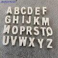 Alta Calidad 130 Unids/lote (de la A a la Z) 10mm Encanto de la Letra Del Oro Plata Oro Rosa Letra Mayúscula Inicial Alfabeto Encanto Colgante