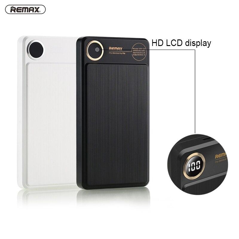 bilder für REMAX 20000 mAh 2 USB Power bank Tragbare Externe Ladegerät Power 20000 mah für iPhone 6 7 plus Für iPad Handy