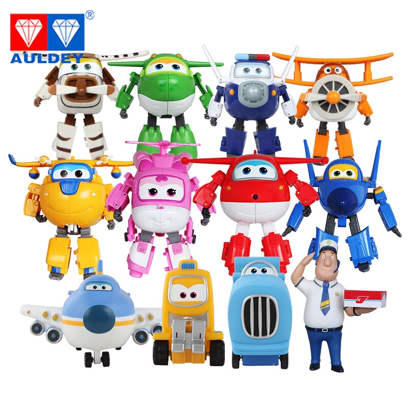 12pcs/set Big 15cm Super Wings High Quality Original TODD PAUL JEROME DONNIE ASTRA MIRA Deformation Action Figures Toys 12pcs set children kids toys gift mini figures toys little pet animal cat dog lps action figures