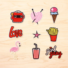 1 pcs patch for clothes oh yeah iron on sew embroidery fabric applique garment clothing apparel diy garment accessories