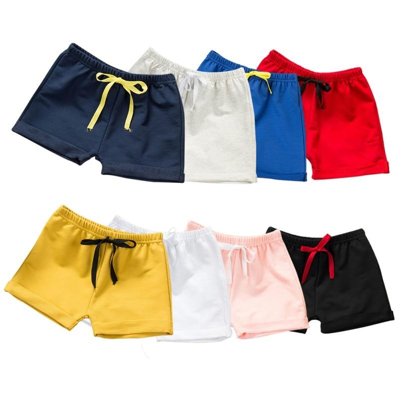 8 värvi suvel beebi tüdrukute lühikesed püksid poisid rannas - Lasterõivad