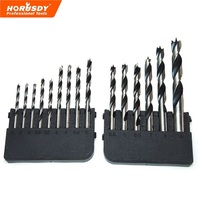 HORUSDY 15 Pcs Woodworking Drill Bit Set Precision Ground From Hardened