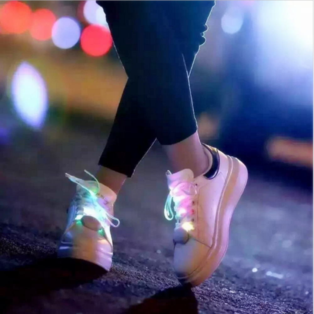 VNL LED Shoelaces Light Up With Battery 120CM Waterproof String Light For Party Hip-Hop Dancing Skating Night Run